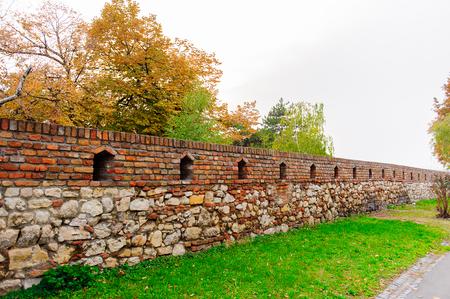 Wall around the Belgrade Fortress (Stari Grad). Belgrade Fortress - Monument of Culture of Exceptional Importance in 1979. Serbia Stock Photo