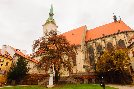 St. Martins Cathedral, Old Town of Bratislava, Slovakia Stok Fotoğraf