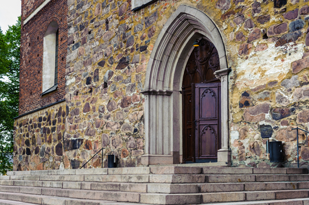 Entrance to the Turcu Cathedral, Turku, Finland Stock Photo