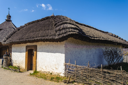 Zaporozhskaya Sich, historical house, whre the cossacks lived, Hortitsia, Ukraine