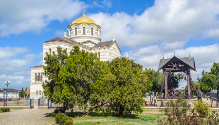 Saint Vladimir Cathedral, a Neo-Byzantine Russian Orthodox cathedral on the site of Chersonesos Taurica.