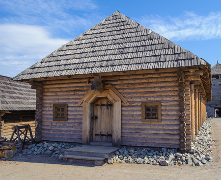 Ancient historical cossacks house