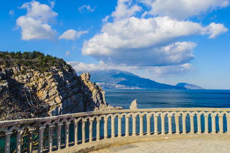 Observation point to see the black sea and nature of Crimea