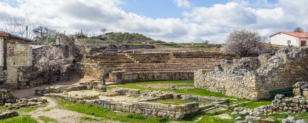 Rest of the Greek coliseum, Chersonesos Taurica.