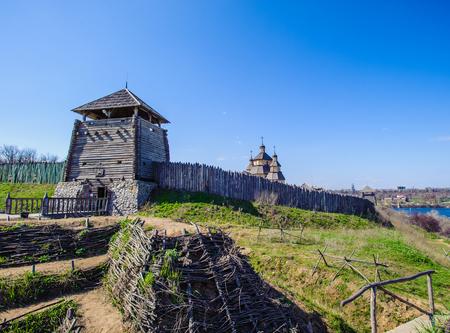 Landscape of the Zaporozhian Sich, Ukraine Stock Photo