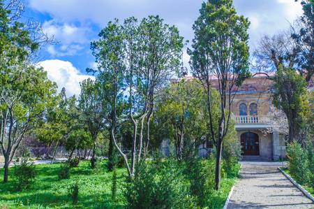 Park in Ukraine during the spring 免版税图像