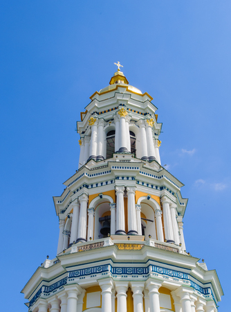 the Great Lavra Bell Tower or the Great Belfry. It is one of the most notable buildings of the Kiev skyline Stock Photo