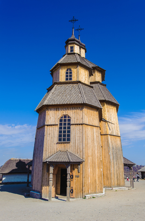Cossacks church in the middle of the Zaporozhskaya Sich
