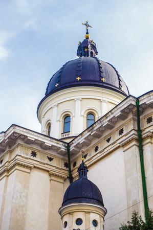 Trasfiguration Church on the north of the Rynok Square, Lviv, Western Ukraine Stock Photo