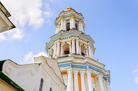 Great Lavra Bell Tower or the Great Belfry, Kiev, Ukraine. The bell tower was the highest free-standing bell tower at the time of its construction in 1731–1745 Stock Photo