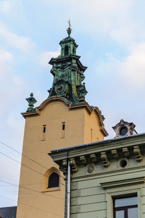 Achitecture of the Old town of Lviv, Ukrainian cultural capital Stock Photo