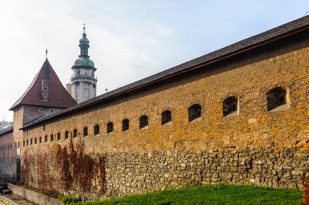 Ancient Wall of Lvov, Western Ukraine, Old Town,  Historic Centre of Lviv, Ukraine. UNESCO World Heritage