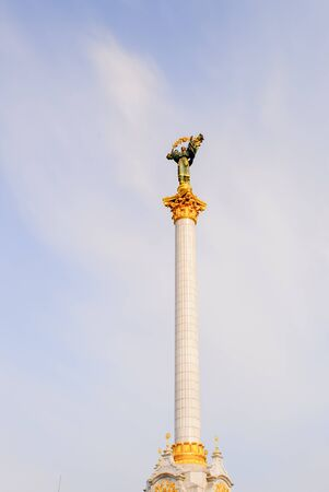 Monument to Berehynia on Kievs Maidan Nezalezhnosti