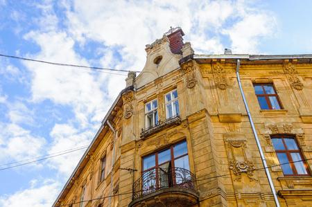 Architecture of Lvov, Western Ukraine Stock Photo