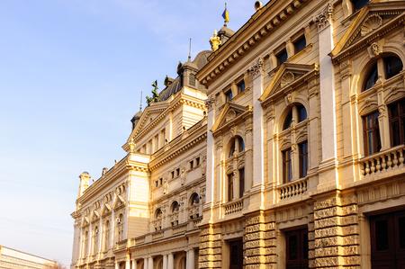Facade of the  Lviv Opera and Ballet Theatre,