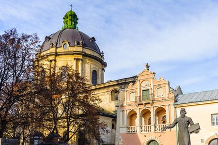 The Dormition or Assumption Church, the main Orthodox church in the city of Lviv, Ukraine.