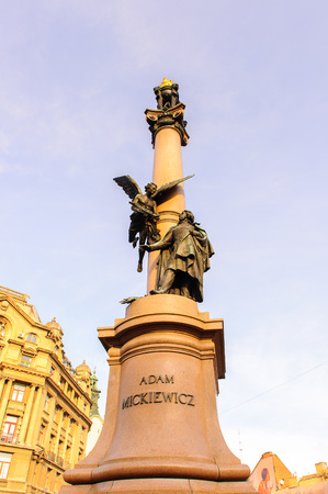 Adam Mickiewicz statue, Lvov, Ukraine