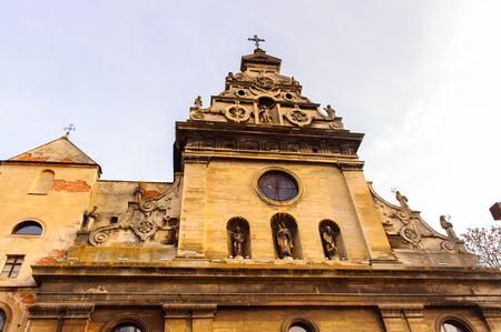 Bernardine church, Old Town, Historic Centre of Lviv, Ukraine. Foto de archivo