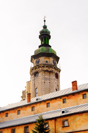 Bell tower of the Bernardine church, Old Town, Historic Centre of Lviv, Ukraine.