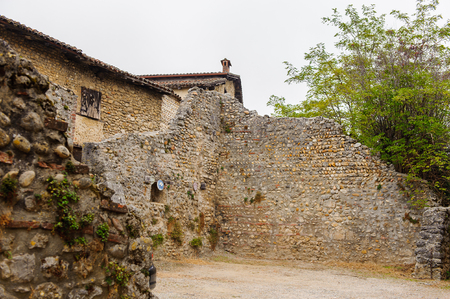 Old house of Perouges, France, a medieval walled town, a popular touristic attraction.