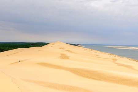 Dune of Pilat (Grande Dune du Pilat), the tallest sand dune in Europe. And the Atlantic Ocean.