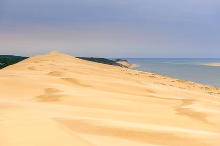 Dune of Pilat (Grande Dune du Pilat), the tallest sand dune in Europe. And the Atlantic Ocean.