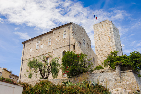 Old town of Antibes, Cote d'Azur, France. Antibes was founded as a 5th-century BC Greek colony and was called Antipolis
