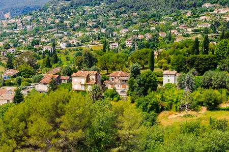 Beautiful houses nearby Saint Paul de Vence, France Stock Photo
