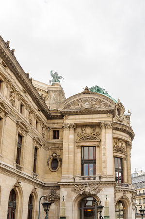 Opera Garnier, an opera house in Paris, France. It has 1979 seats and it was built by the architect Charles Garnier