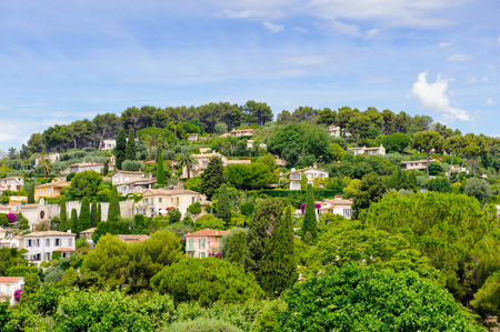 Architrcture of Saint Paul de Vence, France. Old medieval town of the French Riviera 스톡 콘텐츠