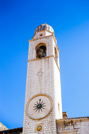 Bell tower of the city of Dubrovnik (Croatia), city on the Adriatic Sea,