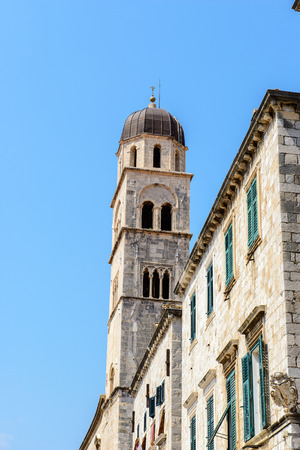 Franciscan monastery bell tower in Dubrovnik, Croatia Editorial
