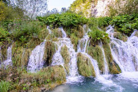 Beautiful natural landscape of the Plitvice lakes area in Croatia