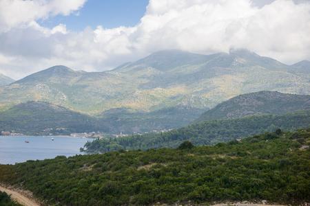 Beautiful landscape of Croatia, mountains and Adriatic Sea Stock Photo