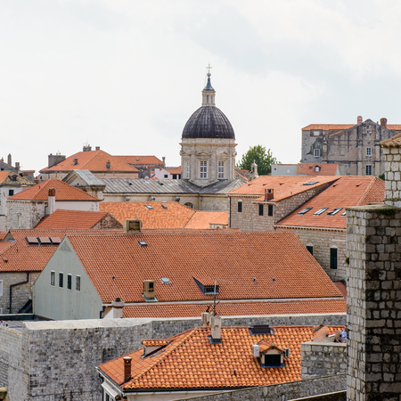 Architecture of the Old town of Dubrovnik, Croatia. View from the walls