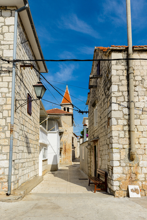 Clock town in Seget town in Croatia