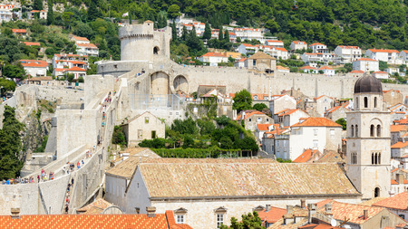 Houses in the Old town of Dubrovnik, Croatia.