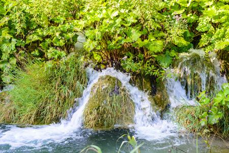 Water falls of the Plitvice lakes in Croatia