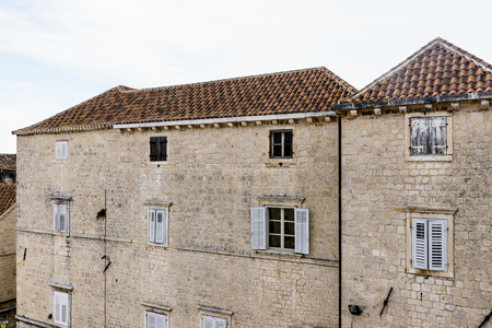 Houses in the Historic City of Trogir, Croatia. UNESCO WOrld Heritage Site