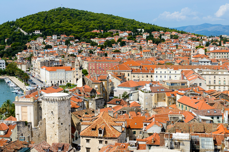 Split, Croatia. It is the second-largest city of Croatia and the largest city of the region of Dalmatia