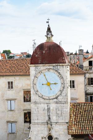 Church in the Historic City of Trogir, Croatia. UNESCO WOrld Heritage Site Stock Photo