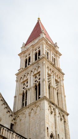 Cathedral of St. Lawrence (Katedrala Sv. Lovre), a Roman Catholic triple-naved basilica constructed in Romanesque-Gothic in Trogir, Croatia. UNESCO World heritage