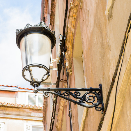 Architecture and lamp posts of the Historical Complex of Split, Croatia Stock Photo
