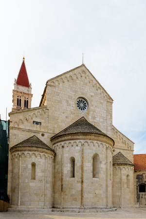 Cathedral of St. Lawrence (Katedrala Sv. Lovre), a Roman Catholic triple-naved basilica constructed in Romanesque-Gothic in Trogir, Croatia.