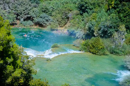 Beautiful Waterfall of the Krka National Park in Croatia