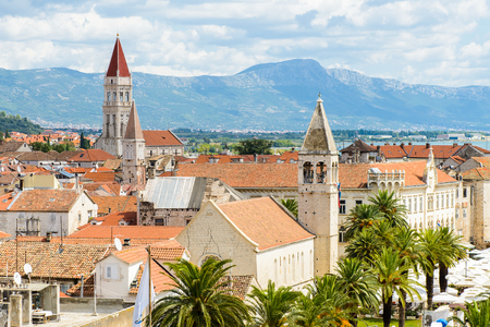 Panoramic view of Historic City of Trogir, Croatia.