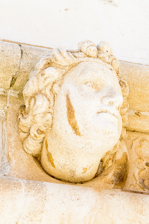 Sculpture of the St. James Cathedral in Sibenik, Croatia
