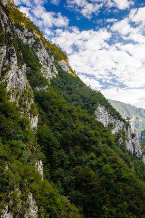 Nature of the mountains in Montenegro 스톡 콘텐츠
