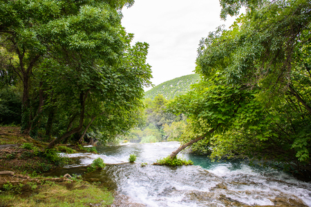 Water and nature of the Krka National Park in Croatia