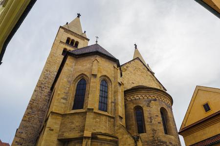 St. George's Basilica, back side, Prague castle, Czech Republic 에디토리얼
